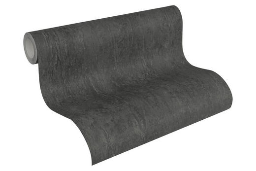 VLIESTAPETE 10,05 m - Schwarz, Basics, Textil (53/1005cm)