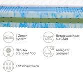 KALTSCHAUMMATRATZE 90/200 cm  - Weiß, Basics, Textil (90/200cm) - Novel