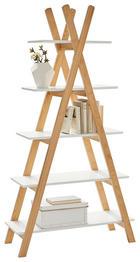 REGAL Pinie massiv Pinienfarben, Weiß - Weiß/Pinienfarben, Design, Holz/Holzwerkstoff (89,6/170,3/35cm) - Xora