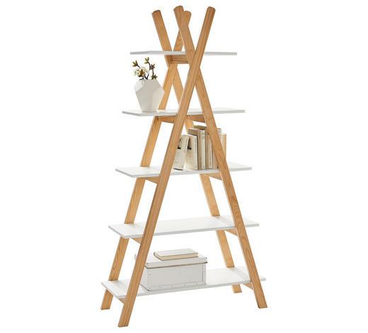 REGAL Pinie massiv Weiß, Pinienfarben  - Weiß/Pinienfarben, Design, Holz/Holzwerkstoff (89,6/170,3/35cm) - Xora