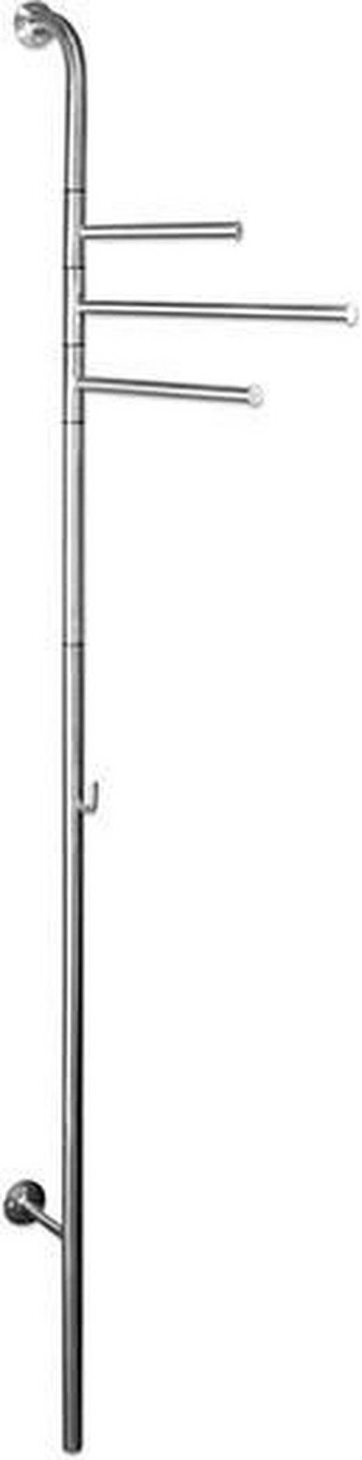 WANDGARDEROBE Edelstahlfarben - Edelstahlfarben, Design, Metall (55/202/42cm)