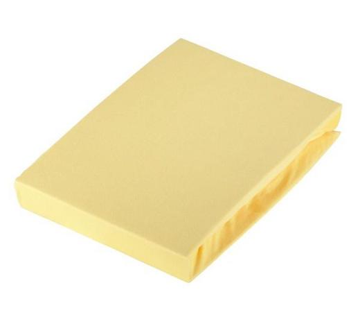 SPANNLEINTUCH 100/200 cm - Gelb, Basics, Textil (100/200cm) - Novel