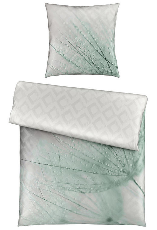 BETTWÄSCHE Satin Mintgrün 135/200 cm - Mintgrün, Natur, Textil (135/200cm) - Novel