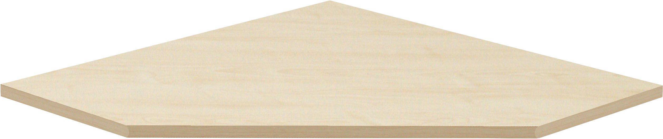 ECKVERBINDUNGSPLATTE - Ahornfarben, KONVENTIONELL, Holzwerkstoff (120/2/85cm) - CS SCHMAL