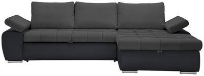 WOHNLANDSCHAFT in Textil Blau, Grau  - Blau/Grau, Design, Kunststoff/Textil (271/175cm) - Xora
