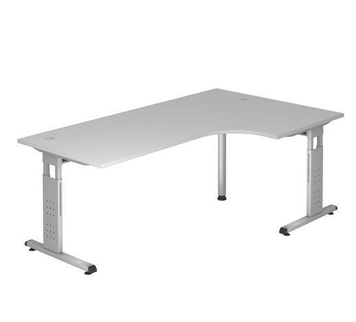 ECKSCHREIBTISCH in Metall, Holzwerkstoff  - Silberfarben/Grau, KONVENTIONELL, Holzwerkstoff/Metall (120/200cm)