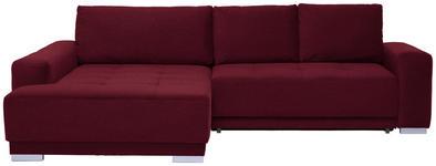WOHNLANDSCHAFT in Textil Rot  - Silberfarben/Rot, Design, Holz/Textil (195/293cm) - Cantus