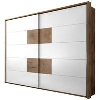 ORMAR S KLIZNIM VRATIMA - bijela/boje hrasta, Design, drvni materijal/metal (280/230/60cm) - HOM IN