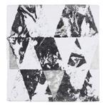 BADEMATTE  60/60 cm  Anthrazit, Silberfarben   - Anthrazit/Silberfarben, Design, Textil (60/60cm) - Ambiente