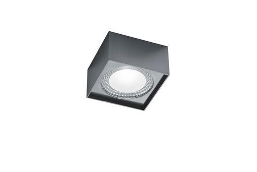 LED-DECKENLEUCHTE - Nickelfarben, MODERN, Metall (12/12/7cm) - Helestra
