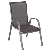 STAPELSESSEL - Hellbraun/Silberfarben, Design, Textil/Metall (55/96/72cm) - XORA