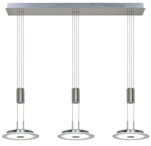 HÄNGELEUCHTE - Nickelfarben, Design, Glas/Metall (84/20/150cm) - Novel