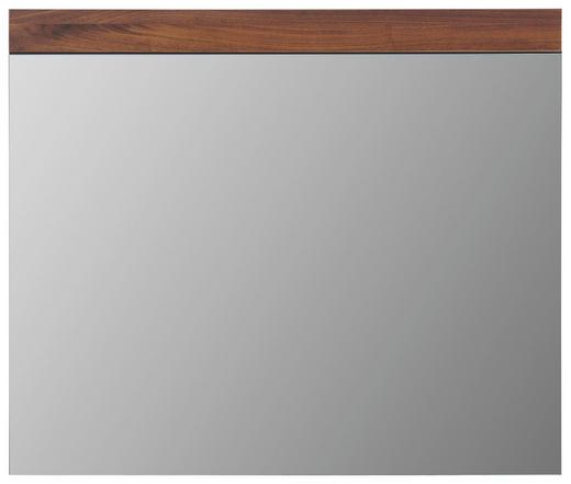 SPIEGEL Nussbaumfarben - Nussbaumfarben, Design, Glas/Holz (90/76/2cm) - Cassando