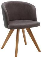 ŽIDLE, dřevo, textil, šedá, - šedá/barvy dubu, Design, dřevo/textil (53/78/57cm) - Voleo