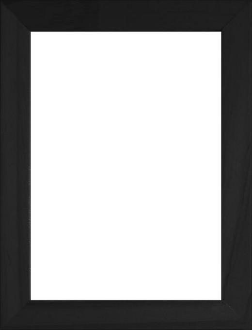 RÁM NA OBRAZY - černá, Basics, dřevo/sklo (13/18cm)