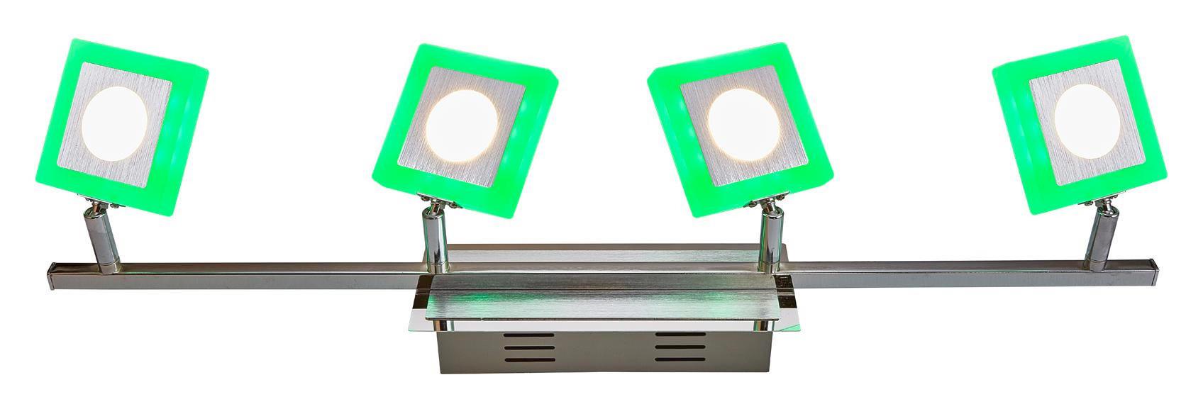 LED-STRAHLER - Chromfarben, Design, Kunststoff/Metall (67,5/8/20cm) - NOVEL