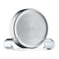 UNTERSETZERSET - Klar/Edelstahlfarben, Design, Kunststoff/Metall (9,5cm) - WMF