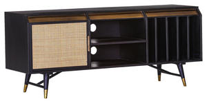 LOWBOARD 160/67/47 cm  - Messingfarben/Schwarz, Trend, Holz/Holzwerkstoff (160/67/47cm) - Carryhome
