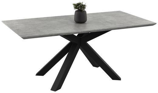 JEDILNA MIZA, črna, temno siva - temno siva/črna, Design, kovina/leseni material (180/76/90cm) - Novel