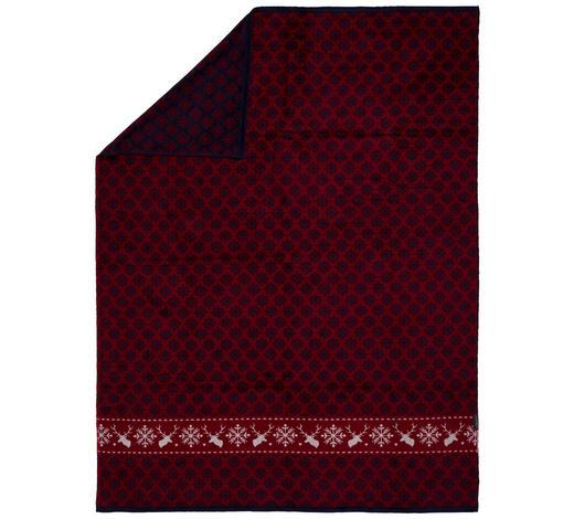 DECKE 150/200 cm - Blau/Rot, LIFESTYLE, Textil (150/200cm) - David Fussenegger