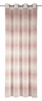 ZAVESA Z OBROČKI NICO - roza/bež, Moderno, tekstil (135/245cm) - Esposa