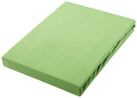 SPANNBETTTUCH Jersey Hellgrün bügelfrei, für Wasserbetten geeignet - Hellgrün, Basics, Textil (100/200cm) - Novel