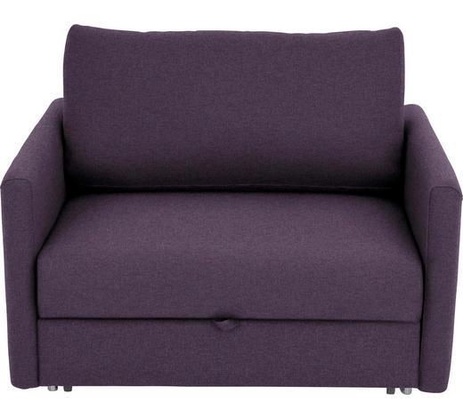 SCHLAFSESSEL Violett    - Chromfarben/Violett, Design, Textil/Metall (116/77-88/110-120cm) - Bali