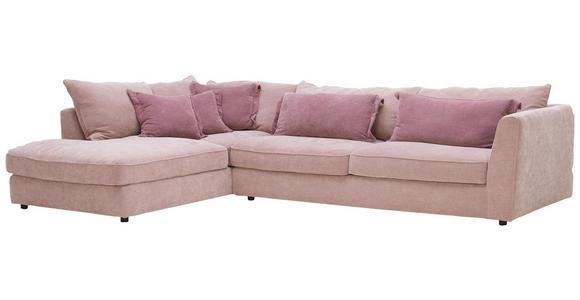 WOHNLANDSCHAFT in Textil Altrosa, Rosa - Schwarz/Altrosa, ROMANTIK / LANDHAUS, Kunststoff/Textil (225/329cm) - Valnatura