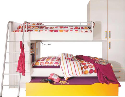 JUGENDZIMMER Orange, Weiß - Orange/Weiß, Design (90/200cm) - Venda