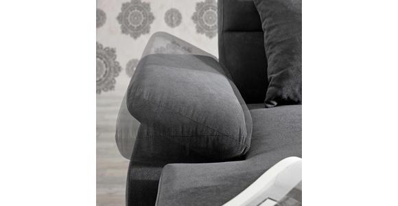 WOHNLANDSCHAFT in Textil Hellgrau - Dunkelbraun/Hellgrau, KONVENTIONELL, Kunststoff/Textil (166/319/183cm) - Cantus