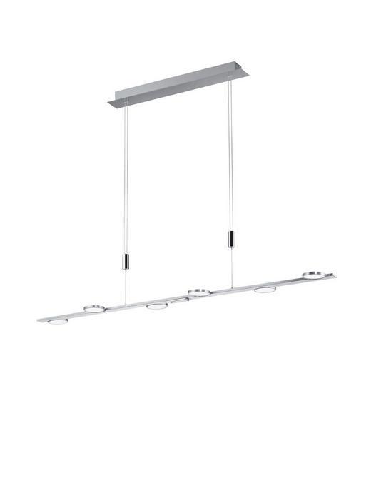 LED-HÄNGELEUCHTE - Nickelfarben, MODERN, Metall (125/150cm)