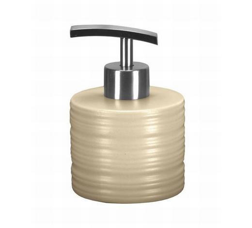 DOZATOR TEKUĆEG SAPUNA  bež  keramika  - bež, Konvencionalno, keramika (8/7.5cm) - Kleine Wolke