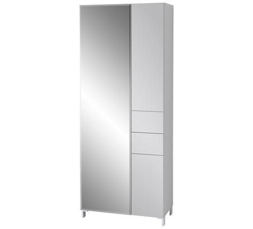 GARDEROBENSCHRANK 80/200/39 cm - Weiß, Design, Glas/Holzwerkstoff (80/200/39cm) - Xora