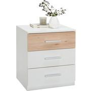 NACHTKÄSTCHENSET in Buchefarben, Weiß - Buchefarben/Alufarben, Design, Holzwerkstoff/Kunststoff (46/56/41cm) - Ti`me