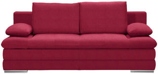 SCHLAFSOFA in Textil Rot  - Chromfarben/Rot, MODERN, Textil (203/90/102cm) - Carryhome