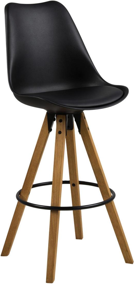 BARSKA STOLICA - boje hrasta/crna, Design, tekstil/drvo (44/85/42cm) - Carryhome