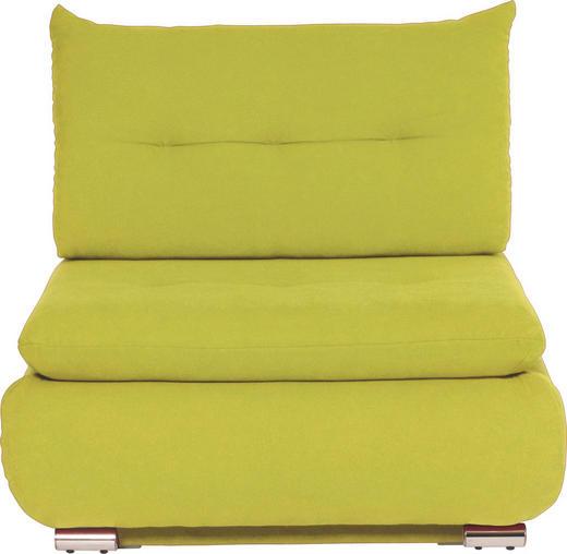SCHLAFSESSEL Webstoff Gelb - Chromfarben/Gelb, Design, Textil/Metall (94/86/83cm) - NOVEL
