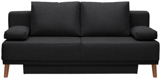 SCHLAFSOFA Anthrazit - Anthrazit/Naturfarben, Design, Holz/Textil (192/92/90cm) - Novel
