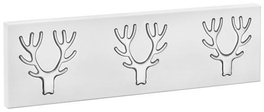 VJEŠALICA ZIDNA - bijela/boje srebra, Design, metal (60,5/17,7/2,8cm) - BOXXX