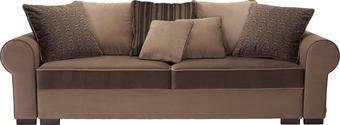 BIGSOFA in Braun Textil - Braun, Trend, Kunststoff/Textil (256/74-90/106cm) - HOM IN