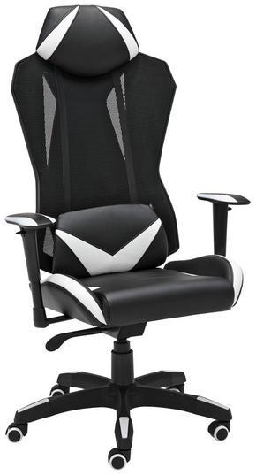 GAMINGSTOL - vit/svart, Design, metall/textil (74/138/65cm) - Xora