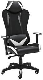 GAMINGSTUHL - Schwarz/Weiß, Design, Kunststoff/Textil (74/138/65cm) - Xora
