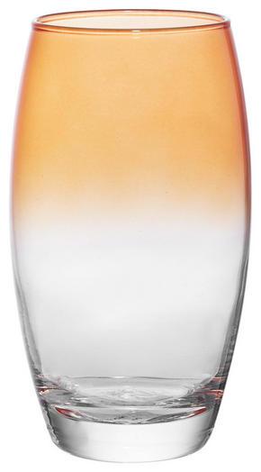 LONGDRINKGLAS - klar/orange, Trend, glas (6,6/14,5cm) - Homeware