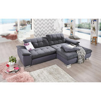 SEDACÍ SOUPRAVA, šedá, textil - šedá/barvy chromu, Design, kov/textil (265/80/180cm) - Carryhome