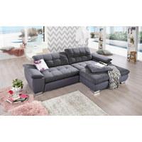 SEDACÍ SOUPRAVA, šedá, textilie - šedá/barvy chromu, Design, kov/textilie (265/80/180cm) - Carryhome