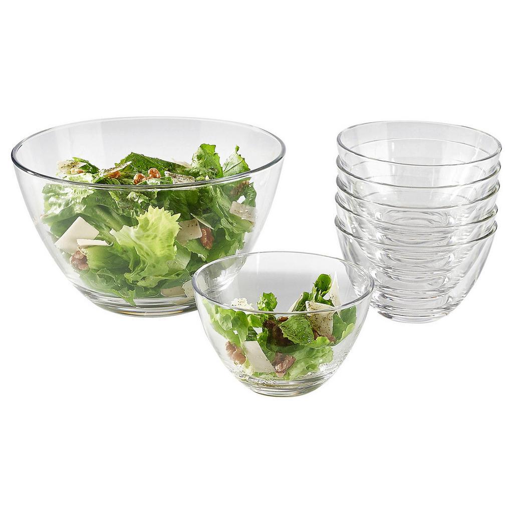 Leonardo Schüsselset glas 7-teilig
