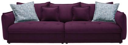 BIGSOFA in Textil Violett - Violett, Design, Textil (295/88/134cm) - Hom`in