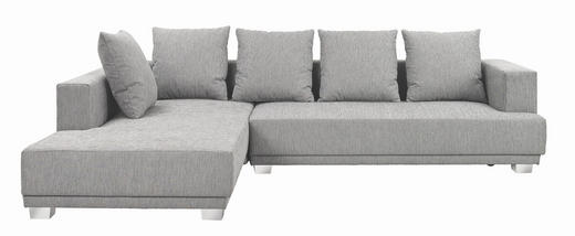 WOHNLANDSCHAFT Webstoff Rückenkissen - Chromfarben/Grau, Design, Kunststoff/Textil (225/305cm) - Carryhome