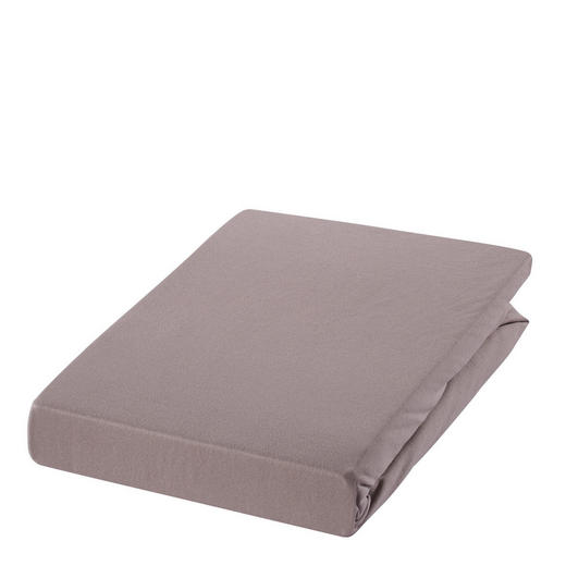 SPANNBETTTUCH Zwirn-Jersey Braun, Hellbraun bügelfrei, für Wasserbetten geeignet - Hellbraun/Braun, Basics, Textil (100/200cm) - Estella