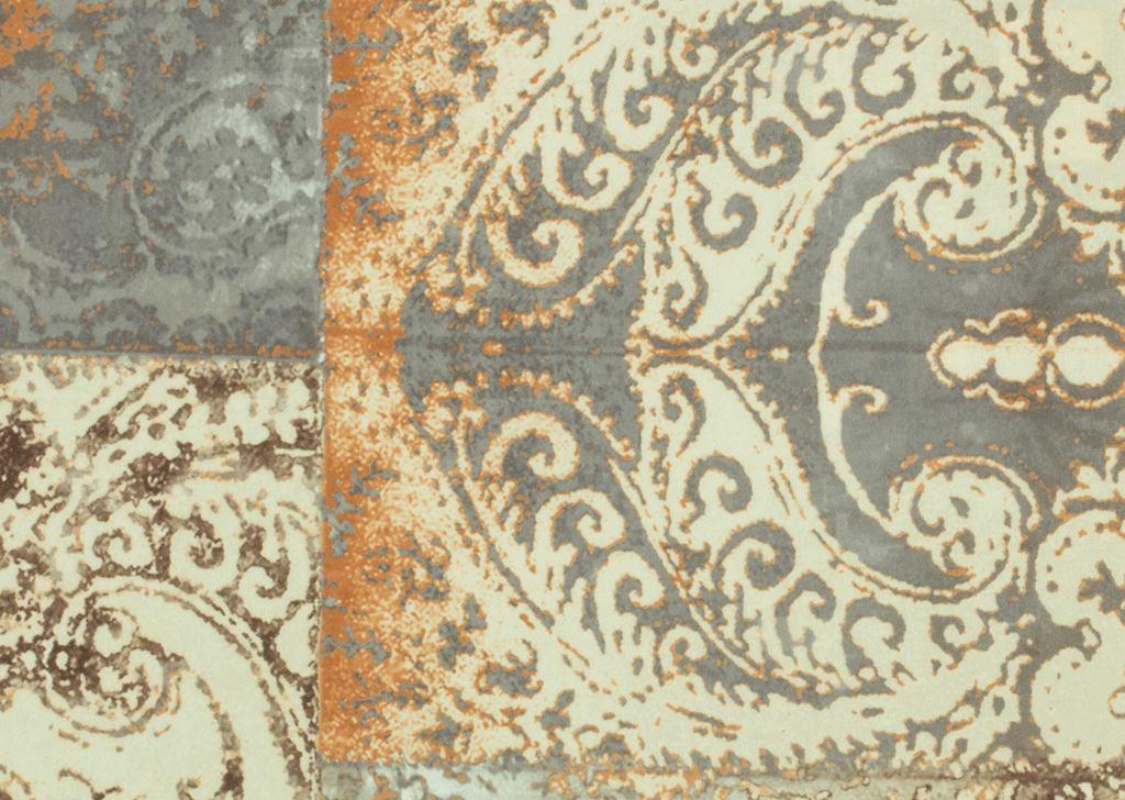 DREISITZER-SOFA Webstoff Hellbraun - Hellbraun/Multicolor, Design, Holz/Textil (235/87/98cm) - HOM`IN